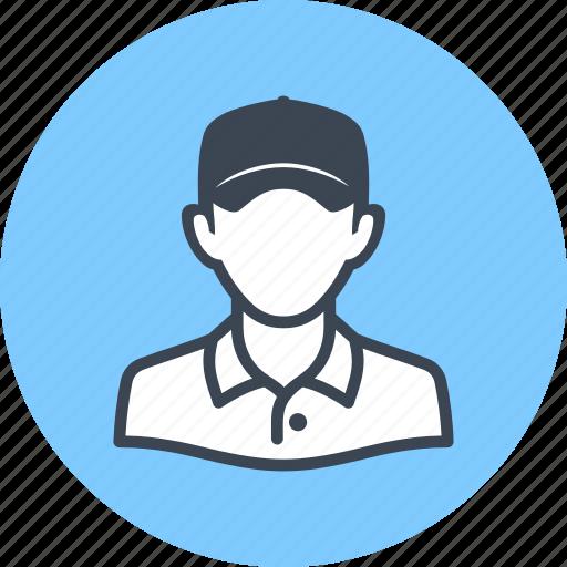avatar, man, worker icon