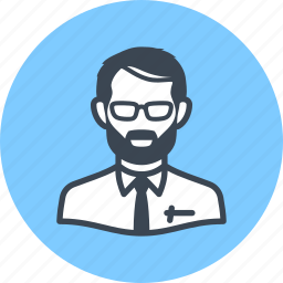 avatar, businessman, man, teacher icon
