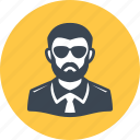 spy, man, avatar icon