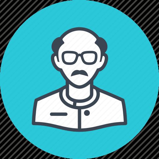 avatar, man, scientist icon