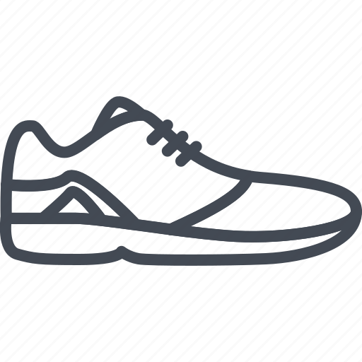 clothes, footwear, line, outline, shoes, sneakers, sport icon