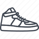 basketball, footwear, line, outline, shoes, sneakers, sport icon