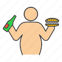 obesity, fat, body, eating, lifestyle, overweight, unhealthy icon