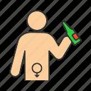 abuse, alcohol, alcoholism, bad, dysfunction, erectile, habit icon
