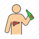 abuse, alcohol, alcoholism, bad, cancer, habit, liver icon