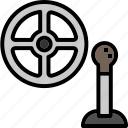 car, gearstick, men, steering, transportation, wheel icon
