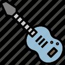 guitar, instrument, men, music icon