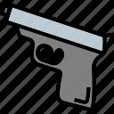 gun, men, violence, weapon icon