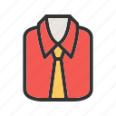 clothes, dress, fashion, formal, men, shirt, sleeve icon
