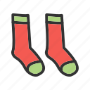 cold, fashion, foot, socks, textile, warm, wool icon
