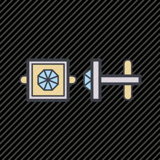 business, cuff, cufflinks, jewellery, jewelry icon