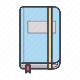 moleskine, note, note book, notepad, sheet icon