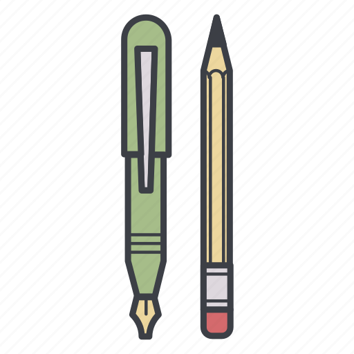 office, pen, pencil, stationery, tools icon