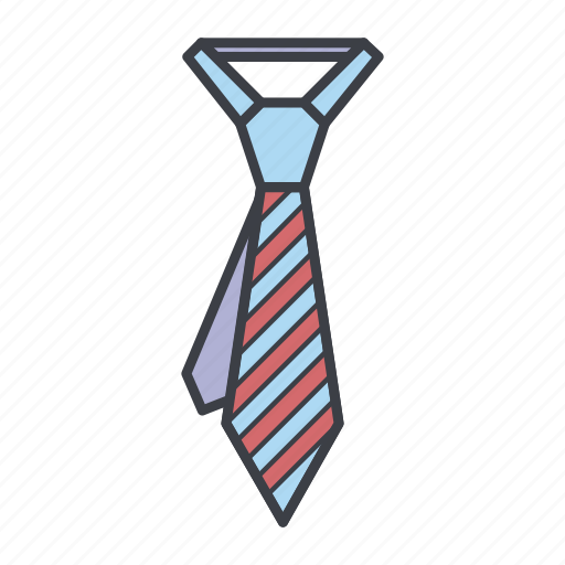 business, clothes, clothing, fashion, man, tie icon