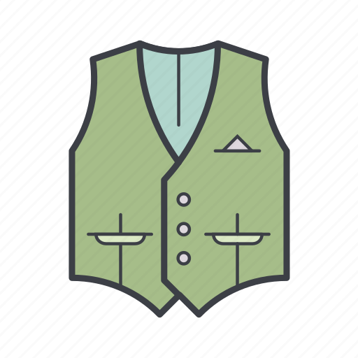 business, clothes, man, vest, waistcoat, wear icon