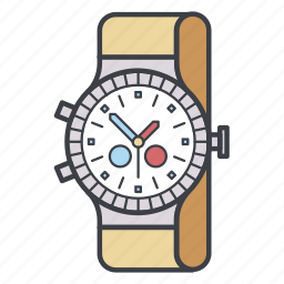 date, plan, time, watch, wrist watch icon