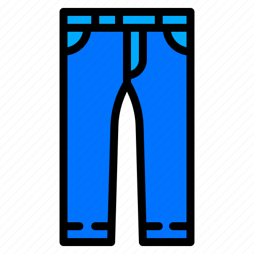 clothing, fashion, jeans, pants, trousers icon