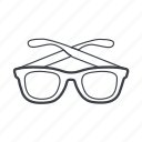 eyeglasses, glasses, sunglasses, wear icon