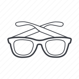 eyeglasses, glasses, sunglasses, wear icon