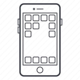 apps, iphone, mobile, phone icon