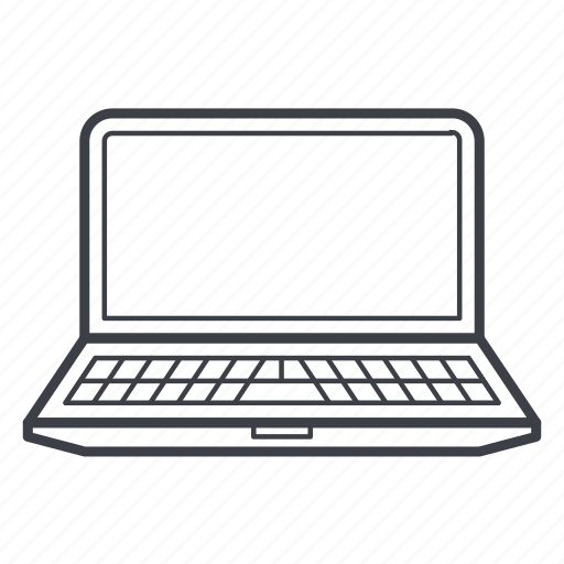 computer, laptop, notebook, pc, work icon