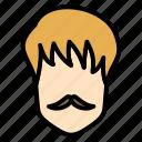 men, hair, hairstyle, pony, short icon