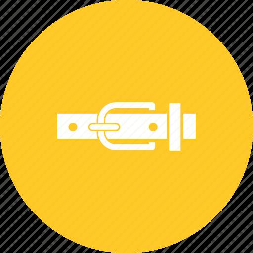 Belt, brown, buckle, fashion, hole, strap, waist icon - Download on Iconfinder