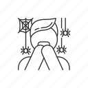 arachnophobia, scared, phobia, phobia icon icon