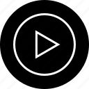 interface, music, nav, navigation, play, ui, vid icon