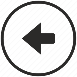 arrow, function, key, left icon