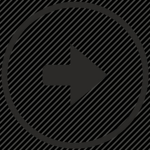 arrow, function, key, right icon