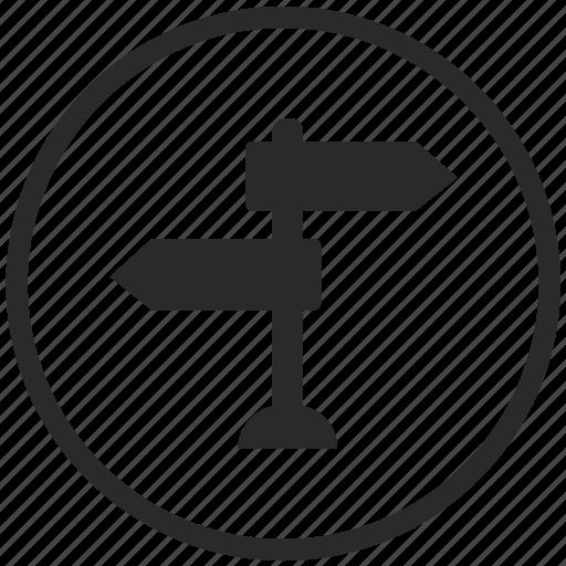 choose, key, place, round, way icon