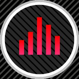 bars, data, good, up icon