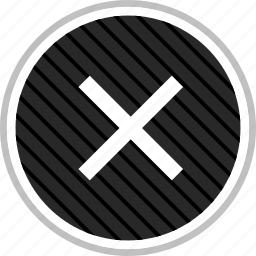 cross, denied, menu, navigation, stop icon