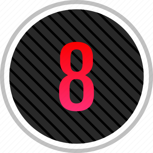 audio, eight, number, top, track icon