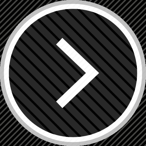 go, menu, navigation, next icon