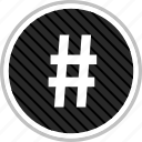 connect, hashtag, menu, navigation icon