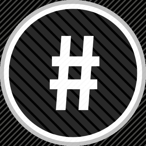 connect, hashtag, menu, navigation icon