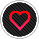 favorite, heart, romance, valentines icon