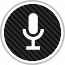 audio, microphone, record icon
