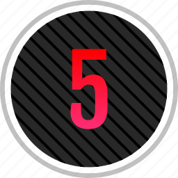 chart, five, number, top icon