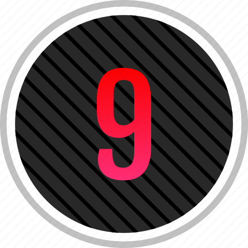 chart, nine, number, top icon