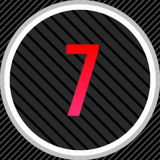 menu, number, seven, sevens icon
