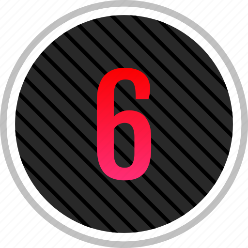 chart, number, six, top icon