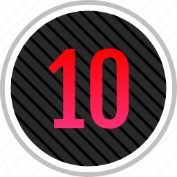 chart, number, ten, top icon