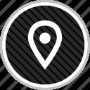 gps, locate, menu, navigation, pin icon