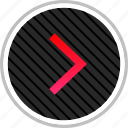 arrow, next, point, right icon