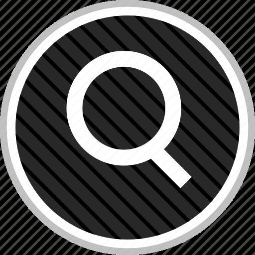 find, look, menu, navigation, search icon