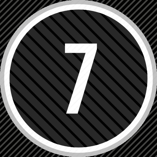 menu, navigation, number, seven icon