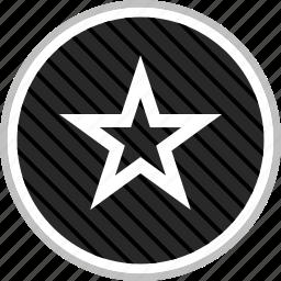 favorite, menu, navigation, star icon